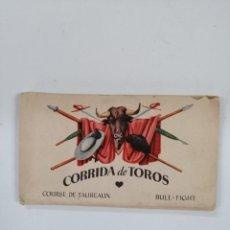 Postales: COLECCIÓN 12 POSTALES TAURINAS. EDICIONES I. G. COLL. BARCELONA, AÑOS. Lote 207764755