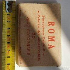 Postales: ÁLBUM FOTOGRÁFICO DE 10 MINI FOTOS POSTALES, ROMA. PINACOTECA CAPITOLINA PALAZZO DEI CONSERVATORI. Lote 210726829