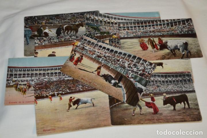 Postales: FAENAS TAURINAS - Colección 9 postales antiguas/variados - Principios siglo pasado / ESPAÑA - ¡Mira! - Foto 2 - 210968295