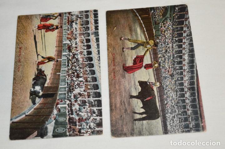Postales: FAENAS TAURINAS - Colección 9 postales antiguas/variados - Principios siglo pasado / ESPAÑA - ¡Mira! - Foto 3 - 210968295