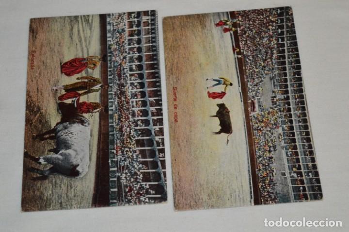 Postales: FAENAS TAURINAS - Colección 9 postales antiguas/variados - Principios siglo pasado / ESPAÑA - ¡Mira! - Foto 4 - 210968295