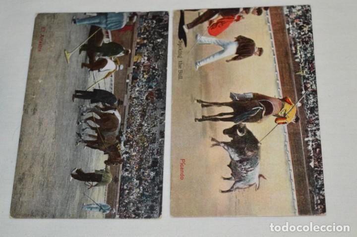 Postales: FAENAS TAURINAS - Colección 9 postales antiguas/variados - Principios siglo pasado / ESPAÑA - ¡Mira! - Foto 6 - 210968295