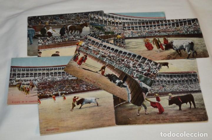 FAENAS TAURINAS - COLECCIÓN 9 POSTALES ANTIGUAS/VARIADOS - PRINCIPIOS SIGLO PASADO / ESPAÑA - ¡MIRA! (Postales - Postales Temáticas - Arte)