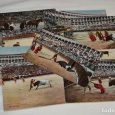 Postales: FAENAS TAURINAS - COLECCIÓN 9 POSTALES ANTIGUAS/VARIADOS - PRINCIPIOS SIGLO PASADO / ESPAÑA - ¡MIRA!. Lote 210968295