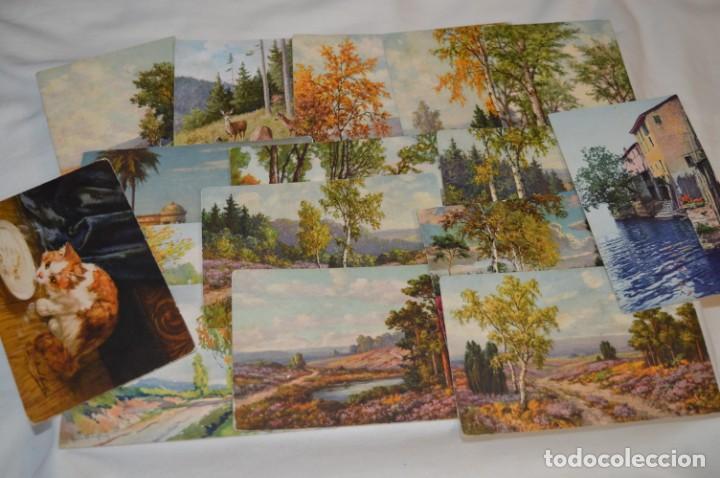 LOTE VARIADO / 16 ANTIGUAS POSTALES - PAISAJES / MADE IN SWITZERLAND ¡MIRA FOTOS Y DETALLES! (Postales - Postales Temáticas - Arte)