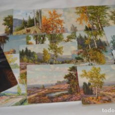 Postales: LOTE VARIADO / 16 ANTIGUAS POSTALES - PAISAJES / MADE IN SWITZERLAND ¡MIRA FOTOS Y DETALLES!. Lote 211663258