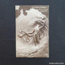 Postales: POSTAL ANTIGUA CREACIÓN DEL MUNDO 1ER DIA 1912 MASTROIANNI PORTADA WEB MUSEO FRANCES POSTALES (P108). Lote 212462893