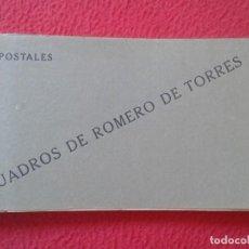 Postales: CUADERNO TALONARIO LIBRETA DE 20 POSTALES CUADROS JULIO ROMERO TORRES PINTOR, CASA LUIS SAUS MADRID.. Lote 214492398