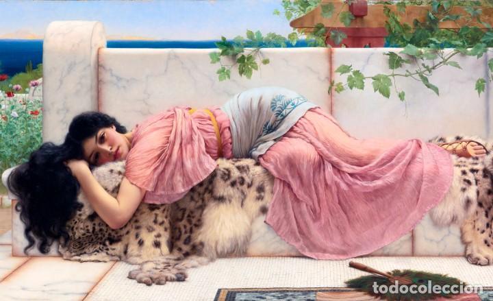 POSTAL DEL CUADRO WHEN THE HEART IS YOUNG, DE JOHN WILLIAM GODWARD. TEMA: PINTURA, ARTE. (Postales - Postales Temáticas - Arte)