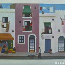 Postales: POSTAL CON PINTURA NAIF DE UTAW : IBIZA. Lote 254084630