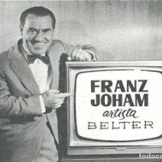 Postales: POSTAL COMERCIAL FRANZ JOHAM BELTER AÑOS 60. Lote 218712030