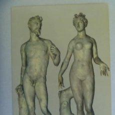 Postales: POSTAL DE FLORENCIA ( ITALIA ): MUSEO NACIONAL, ADAN Y EVA DE BACCIO BANDINELLI. Lote 218939953