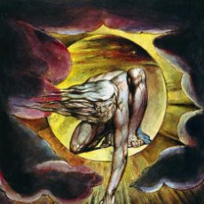 Postales: POSTAL DEL CUADRO THE ANCIENT OF DAYS, DE WILLIAM BLAKE. TEMA: PINTURA, ARTE.. Lote 246521930