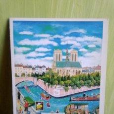 Postales: PARIS POSTAL DE LA ARTISTA JAPONESA BIN KASHIWA. Lote 258121035