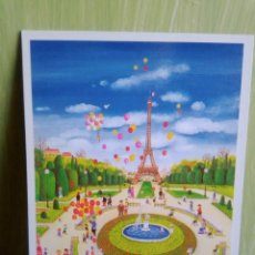 Postales: PARIS POSTAL DE LA ARTISTA JAPONESA BIN KASHIWA. Lote 258228395