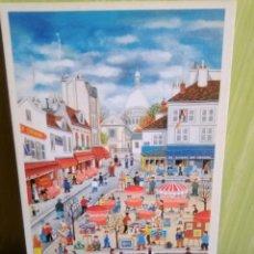 Postales: PARIS POSTAL DE LA ARTISTA JAPONESA BIN KASHIWA. Lote 258228290
