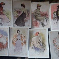 Postales: 8 POSTALES, ILUSTRACIONES DE RAMÓN CASAS, EDITORIAL ANTALBE. Lote 220476352