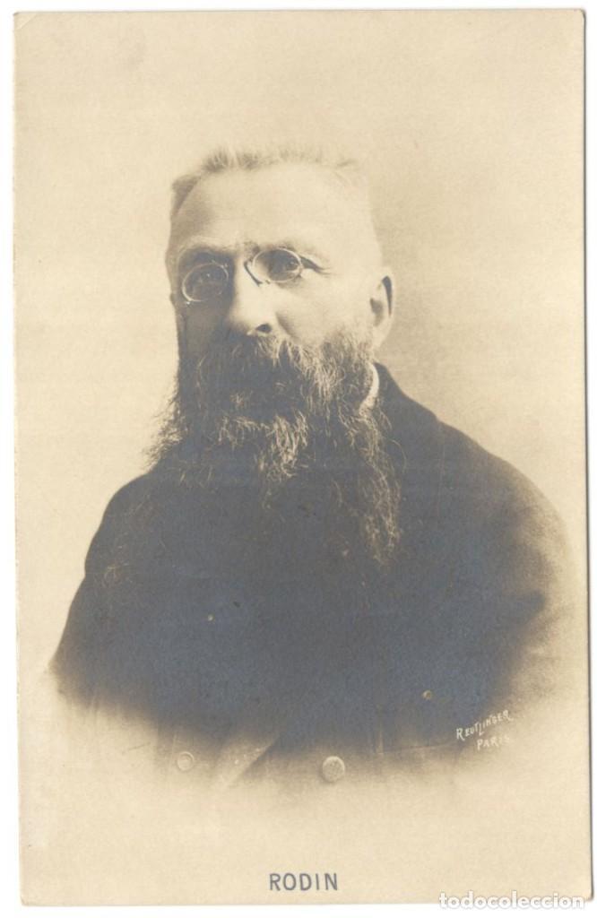 POSTAL FOTOGRAFICA- AUGUSTE RODIN - ESCULTOR - REUTLINGER - PARÍS, AÑOS 1910-20. (Postales - Postales Temáticas - Arte)