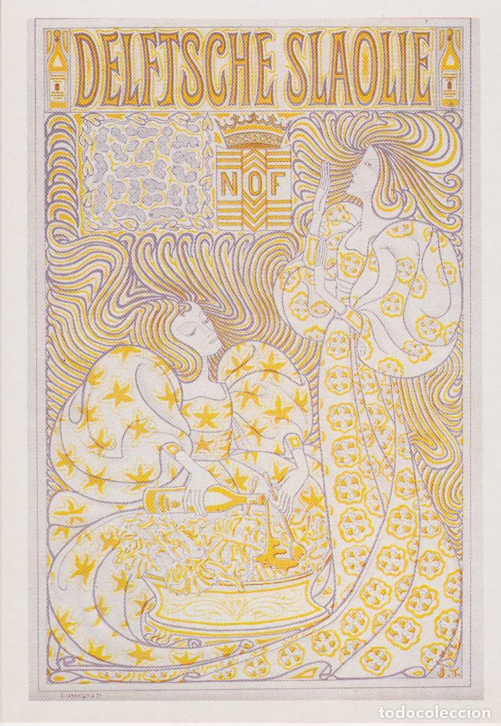 POSTAL OBRA DE JAN TOOROP, POSTER PARA LA DELFTSCHE SLAOLIE, 1896 - S/C (Postales - Postales Temáticas - Arte)