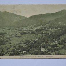 Postales: POSTAL. LANZO D'INTELVI. PANORAMA. ED. FIORONI MILANO. CIRCULADA EN 1935.. Lote 221839412