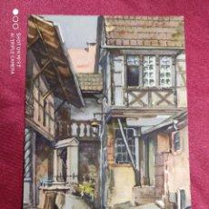 Postales: TARJETA POSTAL. Nº 462. RIQUEWIHR (ALSACE) LE STORKENHOF. PAUL MANNSFELD. IMPRIME EN SUISSE. Lote 221965821