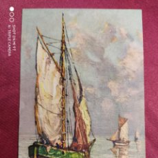Postales: Nº 713. VELEROS. BARCOS DEL ARTISTA FRANCÈS ANDRE BERUNNEAU. IMPRIME EN SUISSE. Lote 221972740