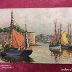 Postales: Nº 717. VELEROS. BARCOS DEL ARTISTA FRANCÈS ANDRE BERUNNEAU. IMPRIME EN SUISSE. Lote 221972802