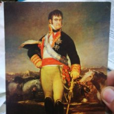 Postales: POSTAL GOYA 1746 - 1828 FERNANDO VII EN UN CAMPAMENTO MUSEO DEL PRADO N 224 ESCUDO DE ORO S/C. Lote 222039673