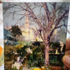 Postales: POSTAL JOAQUÍN SOROLLA BASTIDA 1863 - 1923 JARDINES DEL ALCÁZAR DE SEVILLA EN INVIERNO 1908 S/C. Lote 222040102