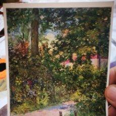 Postales: POSTAL EDOUARD MANET 1832 - 1883 UNE ALLER DU JARDÍN DE RUEIL 1882 KUNSTMUSEUM BERN S/C. Lote 222045702