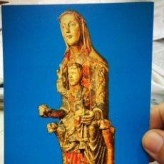 Postales: POSTAL TALLA POLICROMADA ESCUELA DE SEGOVIA S.XIIVIRGEN MAJESTAD MUSEO MARES BARCELONA N 181 LA POL.. Lote 222048032