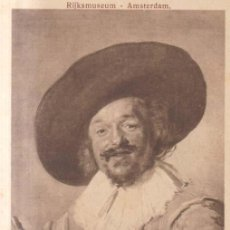 Postales: AMSTERDAM PINTURA DE FRANS HALS, ALEGRE BEBEDOR POSTAL NO CIRCULADA. Lote 222122682