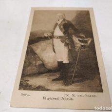 Postales: POSTAL EL GENERAL URRUTIA - GOYA - MUSEO DEL PRADO. Lote 222356567