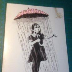 Postales: TARJETA ARTWORK INSPIRED BY BANKSY - FULL COLOUR BLACK GREETINGS CARDS. Lote 222375133