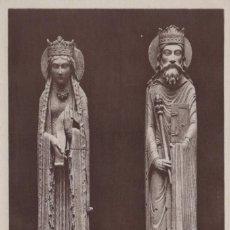 Postales: POSTAL STATUES PROVENANT DE L'EGLISE N D DE CORBEIL - MUSEE LOUVRE. Lote 222539523