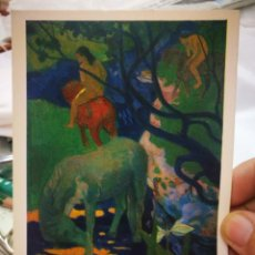 Postales: POSTAL PAUL GAUGUIN 1848 - 1903 LE CHEVAL BLANCO LOUVRE MUSEE DE L'IMPRESIONNISME BRAUN PARÍS 1947 S. Lote 222544675