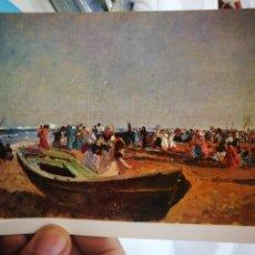 Postales: POSTAL JOAQUÍN SOROLLA PESCADORES VALENCIA MUSEO DE BELLAS ARTES N 78 S/C. Lote 222554632