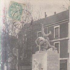Postales: FRANCIA BOLLENE MONUMENT DES LUTTEURS 1905 POSTAL CIRCULADA. Lote 222657616