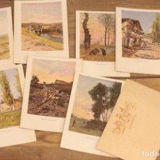 Postales: TARJETA POSTAL, BLANCO Y NEGRO, SERIE C LOTE DE 8. SERIE COMPLETA.. Lote 223285063