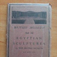 Postales: EGYPTIAN SCULTURES - BRITISH MUSEUM 15 POSTALES EN NEGRO. Lote 224422875