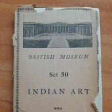 Postales: INDIAN ART 15 POSTALES BRITISH MUSEUM. Lote 224423153