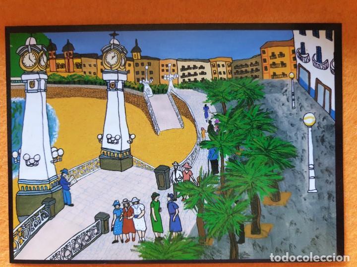 POSTAL ORIGINAL PINTURA NAIF SAN SEBASTIÁN 14,5 X 10,5 CM (Postales - Postales Temáticas - Arte)