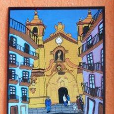 Postales: POSTAL ORIGINAL PINTURA NAIF SAN SEBASTIÁN 14,5 X 10,5 CM. Lote 224437485