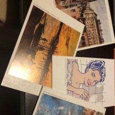 Postales: PACK 4 POSTALES COLECCIÓN THYSSEN BORNEMISZA 1992. Lote 225573620