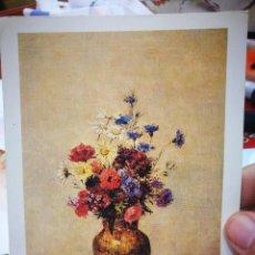 Cartes Postales: POSTAL ODILON REDON 1840 - 1916 FLOWER UN A VASE C.1910 NATIONAL GALLERY OF ART WASHINGTON ESQUINAS. Lote 225995485