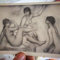 Cartes Postales: POSTAL RENOIR LES GRANDES BASIGNEUSES WOMEN BATHING COLLECTION J. LARACHE PARIS N. Lote 227885175