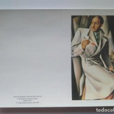 Postales: TARJETA DOBLE DE TAMARA DE LEMPICKA. VERLAG BENEDIKT TASCHEN 1986. Lote 228739950