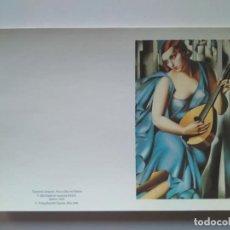 Postales: TARJETA DOBLE DE TAMARA DE LEMPICKA. VERLAG BENEDIKT TASCHEN 1986. Lote 228739980