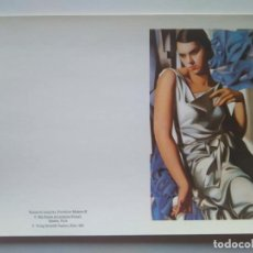 Postales: TARJETA DOBLE DE TAMARA DE LEMPICKA. VERLAG BENEDIKT TASCHEN 1986. Lote 228740055