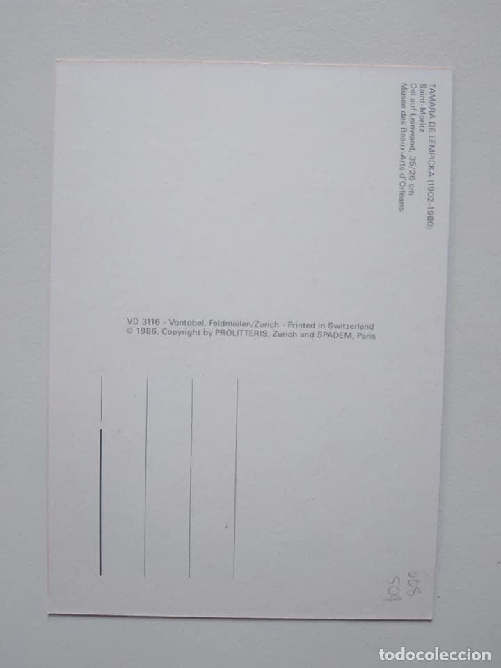 Postales: Postal de Tamara de Lempicka - Foto 2 - 228740320